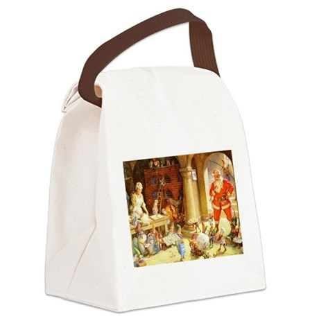 Mrs. Claus & the Elves Bake Chris Canvas Lunch Bag
