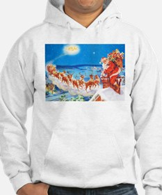 Santa Claus Up On The Rooftop Hoodie