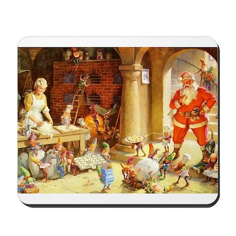 Mrs. Claus & the Elves Bake Christmas Co Mousepad
