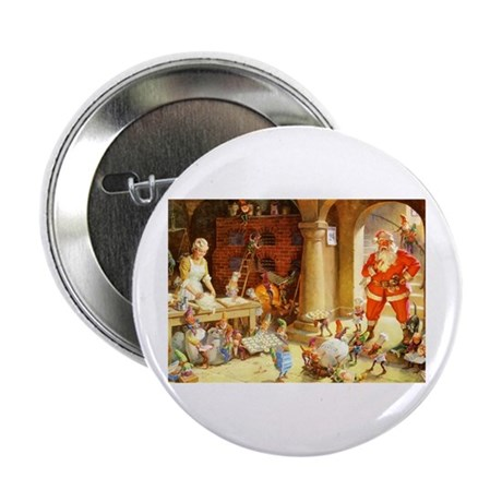 "Mrs. Claus & the Elves Bake Christmas 2.25"" Button"
