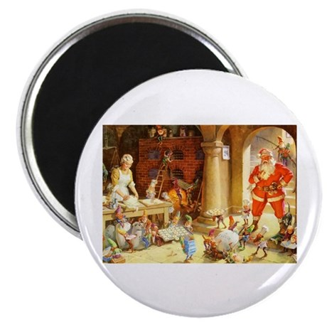 "Mrs. Claus & the Elves Bake 2.25"" Magnet (10 pack)"