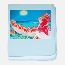 Santa Claus Up On The Rooftop baby blanket