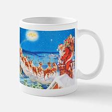 Santa Claus Up On The Rooftop Mug