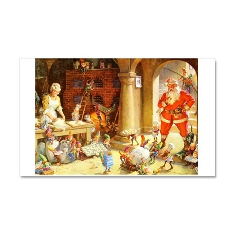 Mrs. Claus & the Elves Bake Chr Car Magnet 20 x 12