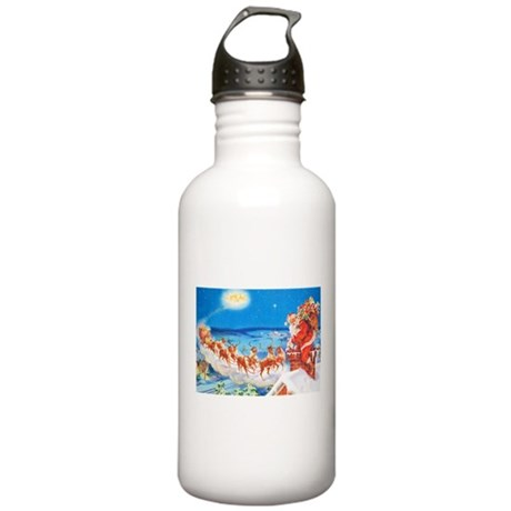 Santa Claus Up On The Stainless Water Bottle 1.0L