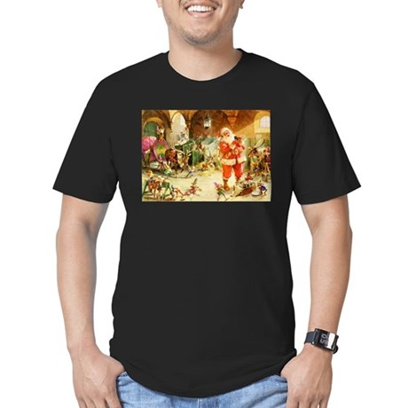 Santa in the North Pol Men's Fitted T-Shirt (dark)