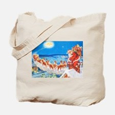 Santa Claus Up On The Rooftop Tote Bag