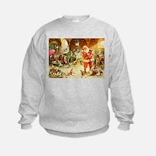 Santa in the North Pole Stables Sweatshirt