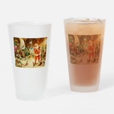 Santa in the North Pole Stables Drinking Glass