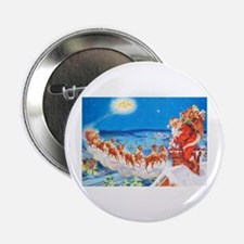 "Santa Claus Up On The Rooftop 2.25"" Button"