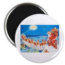 "Santa Claus Up On The Rooft 2.25"" Magnet (10 pack)"