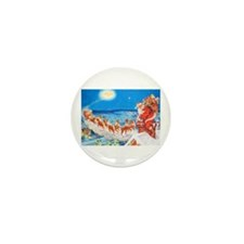 Santa Claus Up On The Rooft Mini Button (100 pack)