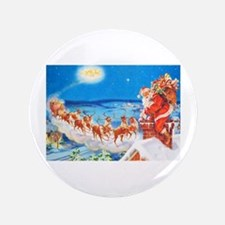 "Santa Claus Up On The Rooft 3.5"" Button (100 pack)"