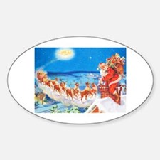 Santa Claus Up On The Rooftop Decal