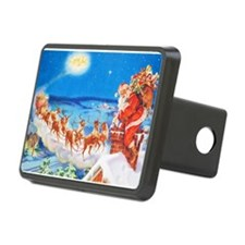 Santa Claus Up On The Roof Hitch Cover