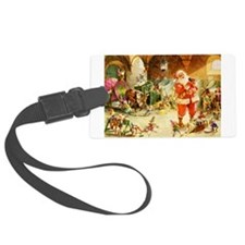 Santa in the North Pole Stables Luggage Tag