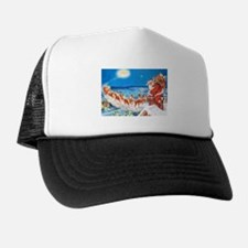 Santa Claus Up On The Rooftop Trucker Hat