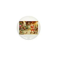 Santa in the North Pole Sta Mini Button (100 pack)