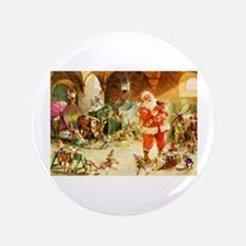 "Santa in the North Pole Sta 3.5"" Button (100 pack)"