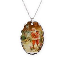 Santa in the North Pole Stables Necklace