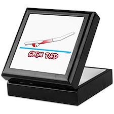 Swim Dad (girl) red suit Keepsake Box