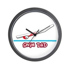 Swim Dad (girl) red suit Wall Clock