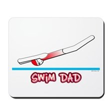 Swim Dad (girl) red suit Mousepad
