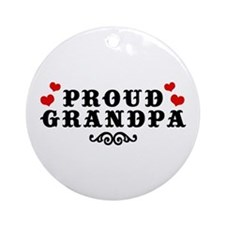 Proud Grandpa Ornament (Round)