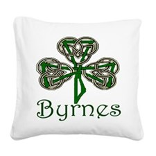 Byrnes Shamrock Square Canvas Pillow