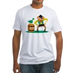 Funny Pirate Fitted T-Shirt