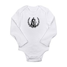 Retro Mod On Lauurel Long Sleeve Infant Bodysuit