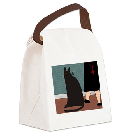 cat and nun blanket.PNG Canvas Lunch Bag