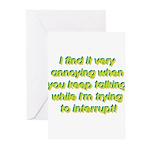 Interuption Greeting Cards (Pk of 10)