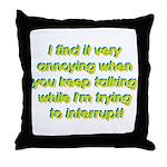 Interuption Throw Pillow