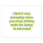 Interuption Small Poster
