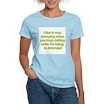 Interuption Women's Pink T-Shirt