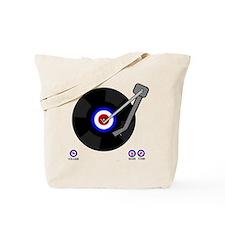 Retro Mod Vinyl Tote Bag