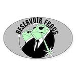 Reservoir Frogs Oval Sticker