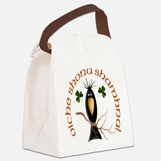 Gaelic Black Crow Canvas Lunch Bag