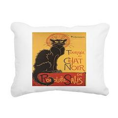 Le Chat Noir Rectangular Canvas Pillow