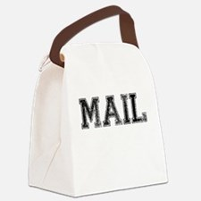 MAIL, Vintage Canvas Lunch Bag