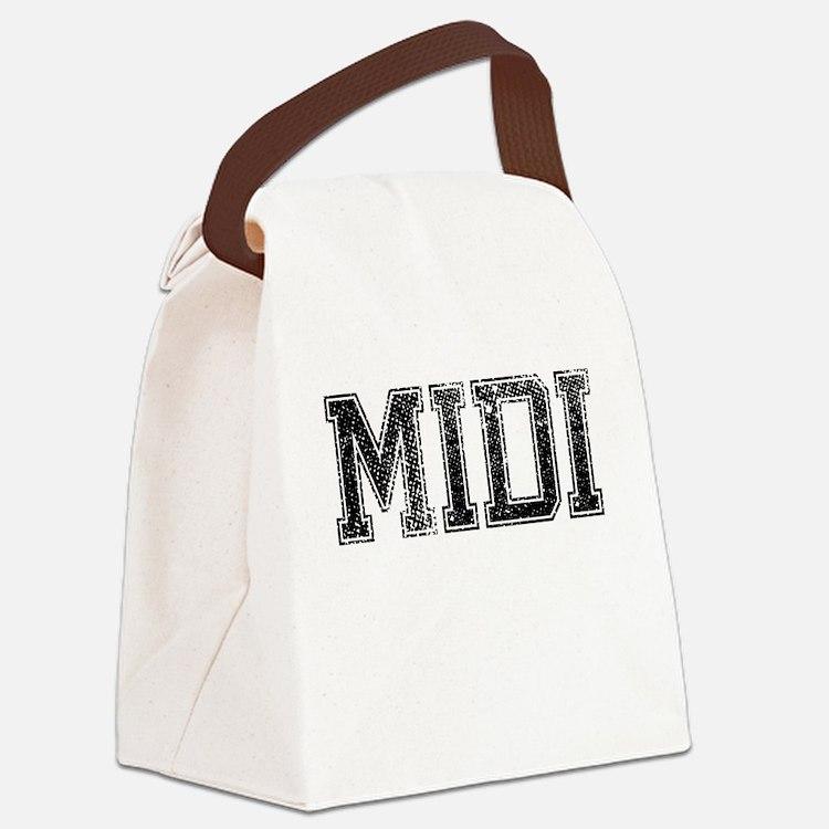 MIDI, Vintage Canvas Lunch Bag