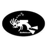 Kokopelli scuba diver Bumper Stickers