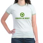 Green Is Sexy Recycle Jr. Ringer T-Shirt