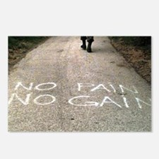 No Pain No Gain Postcards (Package of 8)