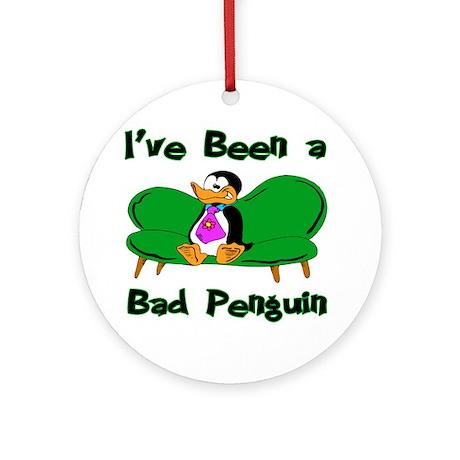 Bad Penguin Ornament (Round)