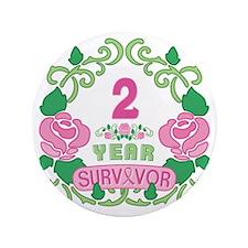 "BCA 2 Year Survivor 3.5"" Button"