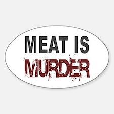 Meat Is Murder Veg*n Sticker (Oval)