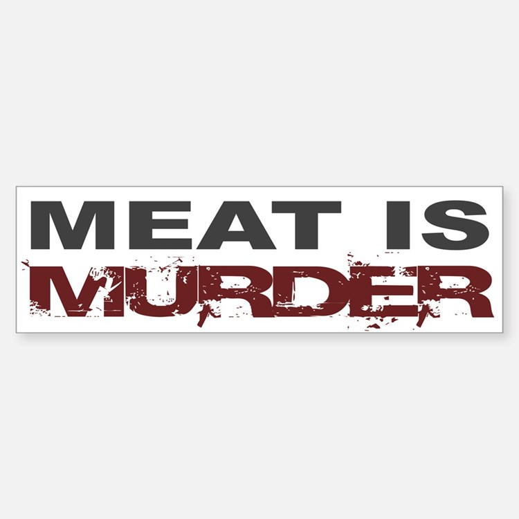 Meat Is Murder Veg*n Bumper Car Car Sticker