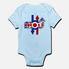 Retro Mod logo and arrows Infant Bodysuit